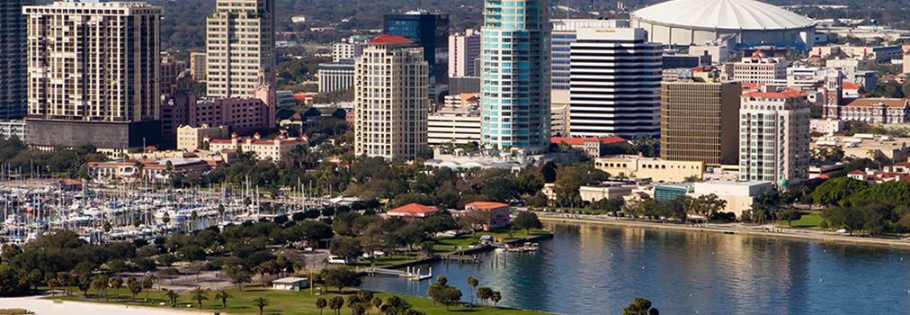 St. Petersburg Florida Downtown Rays Stadium