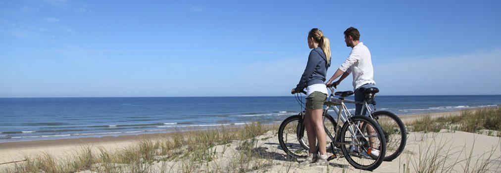 biking on sand dunes of florida beaches